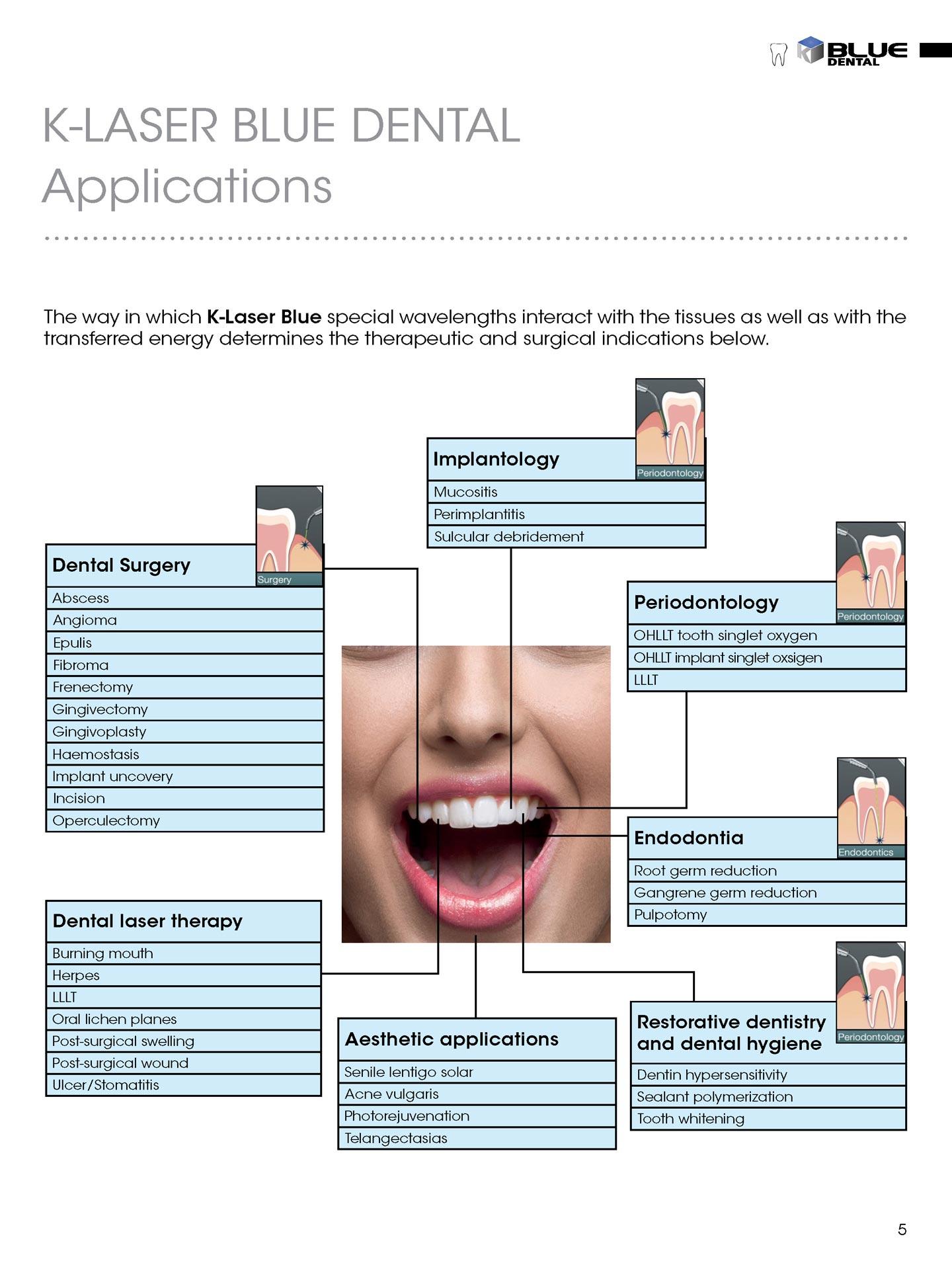 Blue Dental brugsmuligheder